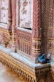 Vensters van Mehrangarh-Fort, Rajasthan, Jodhpur, India Royalty-vrije Stock Afbeelding