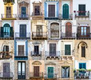 Vensters van Sicilië Royalty-vrije Stock Fotografie