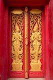 Vensters van Thaise tempel Stock Afbeelding