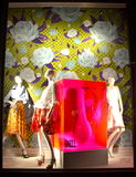 Venstervertoning in Bergdorf Goodman in NYC Stock Afbeelding