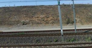 Vensterweergeven van een TGV Trein die Lyon verlaten aan Marseille stock footage