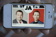 VENSTRE AND SOCIAL DEMOCRAT JOINT JA (YES) Stock Photography