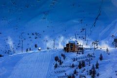 Vent au-dessus de la montagne Photo libre de droits