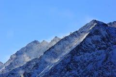 Vent au-dessus des montagnes Images libres de droits