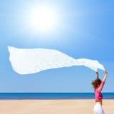 vent blanc Photos stock