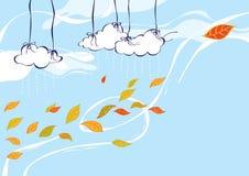 Vent d'automne Image libre de droits