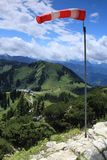 Vent dans les Alpes Photo libre de droits
