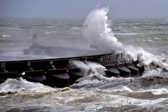 Vent de force de tempête Photo libre de droits