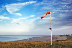 vent de palette de mer de côte photographie stock libre de droits
