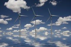 vent de pouvoir vert Photos libres de droits
