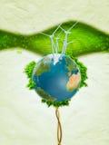 vent de pouvoir vert illustration libre de droits