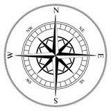 vent de rose de compas illustration stock