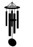 vent de silhouette de carillon Photographie stock