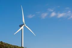 vent de turbine de ciel bleu Photo stock