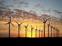 vent de turbine de ferme Photos libres de droits
