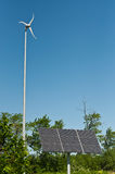 Vent et énergie solaire Images stock