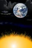 Vent et incendie de la terre Image libre de droits