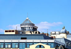 Vent facilities on the roof Royalty Free Stock Image
