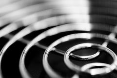Vent grill with fan closeup Royalty Free Stock Photography