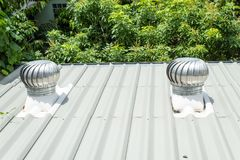 The vent hood on the roof. royalty free stock image