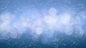 Vent latéral fort de tempête de neige de neige de tempête de tache floue bleue rapide de Gale Force Extreme Weather Motion sans c illustration stock