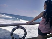 Vent naturel de mer de photographie Photo stock
