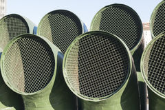 Vent pipe on street Stock Images