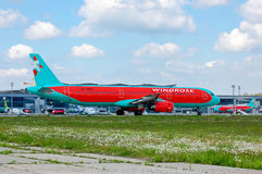 Vent Rose Aviation Airbus A321 Photographie stock