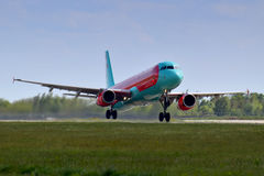 Vent Rose Aviation Airbus A321 Photos stock