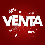 Venta. Spanish word for sales Royalty Free Stock Image