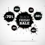Venta abstracta de Black Friday del ejemplo del vector para Foto de archivo libre de regalías
