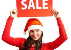 Venta antes de Navidad Imagen de archivo libre de regalías