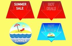 Venta caliente del verano Tiempo de verano caliente Cartel de las vacaciones de verano libre illustration