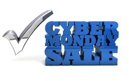Venta cibernética de lunes Imagen de archivo libre de regalías