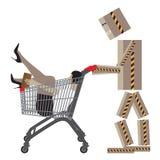 Venta, compras, Black Friday Ilustración conceptual del vector Imagen de archivo