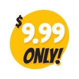 Venta 9 99 dólares ofrecen solamente diseño de la etiqueta engomada de la insignia en estilo plano libre illustration