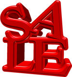venta 3d Imagen de archivo libre de regalías