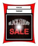 Venta de Black Friday Fotografía de archivo libre de regalías