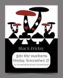 Venta de Black Friday en la bandera del país de las maravillas, tarjeta Fotografía de archivo