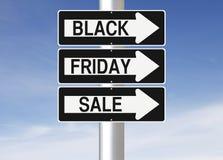 Venta de Black Friday esta manera Imágenes de archivo libres de regalías