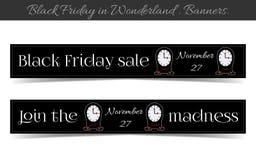 Venta de Clocksanners Black Friday en el país de las maravillas Fotografía de archivo
