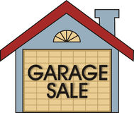 Venta de garage Fotos de archivo