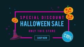 Venta de Halloween del descuento especial hasta la animación 15 stock de ilustración