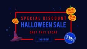 Venta de Halloween del descuento especial hasta la animación 30 ilustración del vector