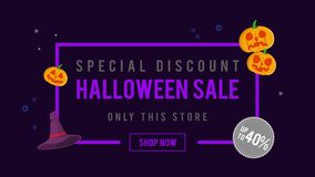 Venta de Halloween del descuento especial hasta la animación 40 libre illustration