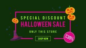 Venta de Halloween del descuento especial hasta la animación 35 libre illustration