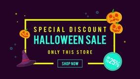 Venta de Halloween del descuento especial hasta la animación 25 ilustración del vector