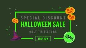 Venta de Halloween del descuento especial hasta la animación 50 libre illustration