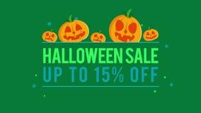 Venta de Halloween del fondo de la animación hasta 15 libre illustration