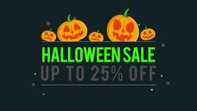 Venta de Halloween del fondo de la animación hasta 20 ilustración del vector
